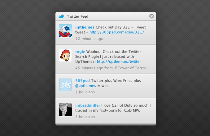 Twitter Search Widget