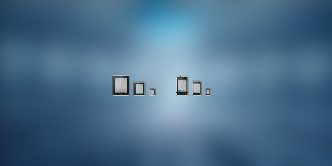 iPad and iPhone icons