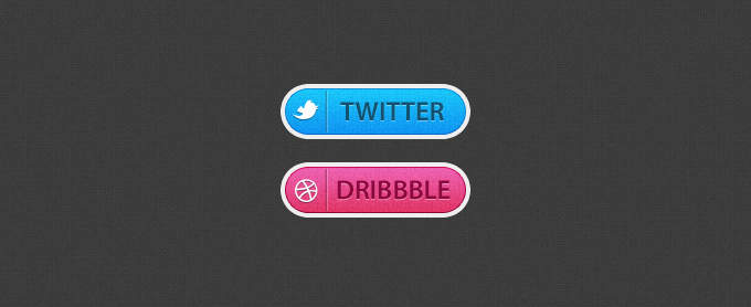 Twitter and Dribbble buttons