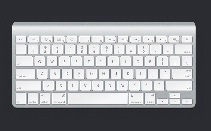 Apple Keyboard PSD