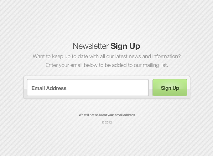 Newsletter Sign Up Form Vector 365psd Com