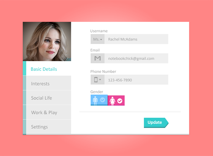 Tabbed Profile Widget