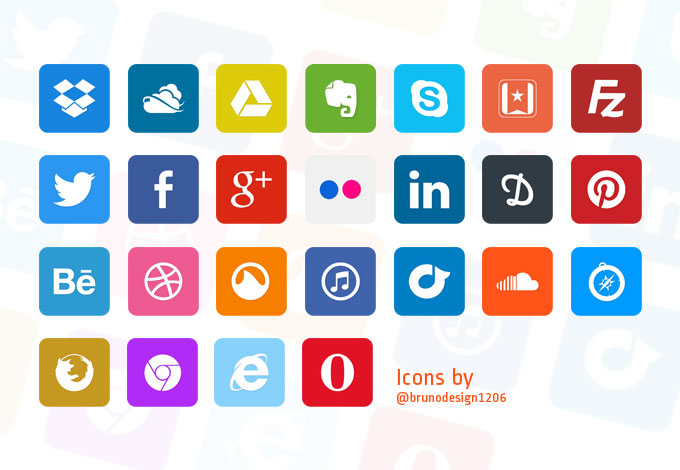 Simple Flat Icons
