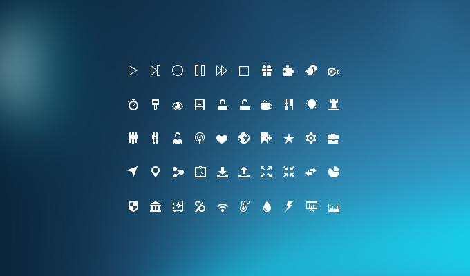 Mini Glyphs Icons