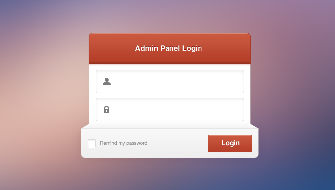 admin panel login vector images. Black Bedroom Furniture Sets. Home Design Ideas