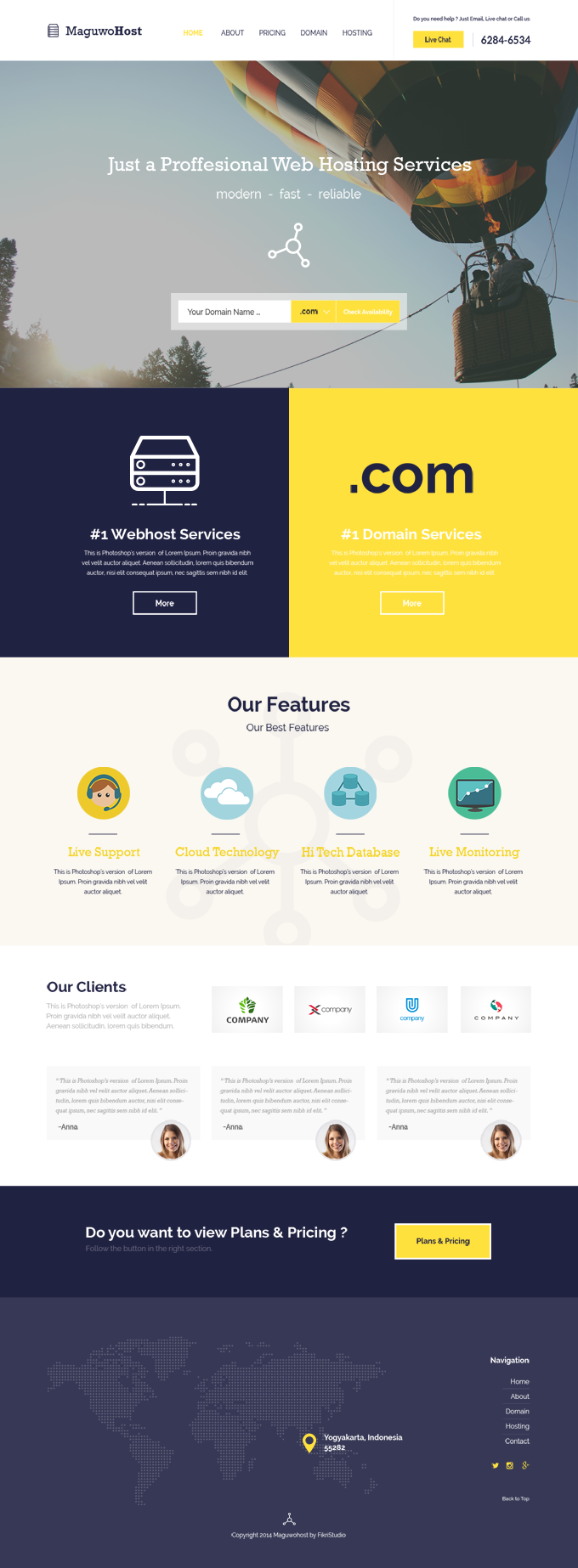 Maguwohost-Hosting Template