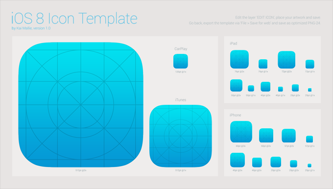 Free iOS 8 Icon Template PSD files, vectors & graphics - 365PSD.com