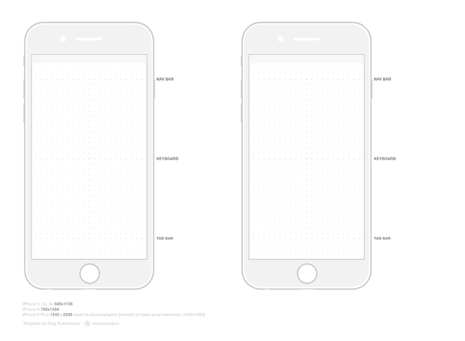 iPhone 6 Template, vector graphic - 365PSD.com